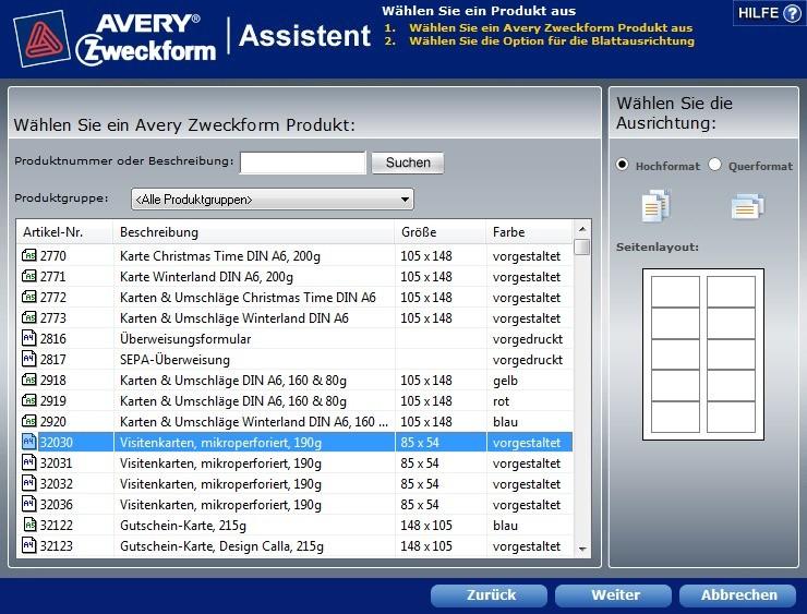 Avery Zweckform Assistent Für Microsoft Office 5 0 0 3026