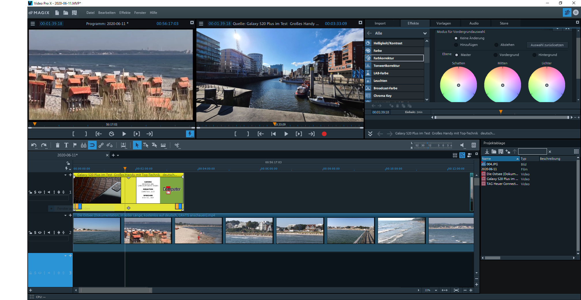 Screenshot 1 - Magix Video Pro X
