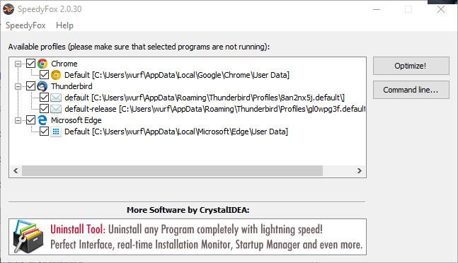 Screenshot 1 - SpeedyFox