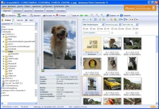 Ashampoo Photo Commander: Hauptfenster des Programms