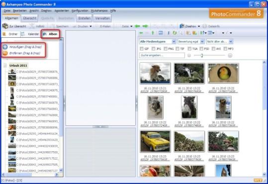 Ashampoo Photo Commander: Virtuelle Fotoalben verwenden