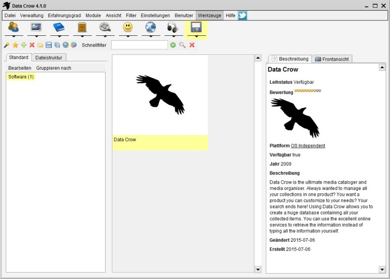 Screenshot 1 - Data Crow