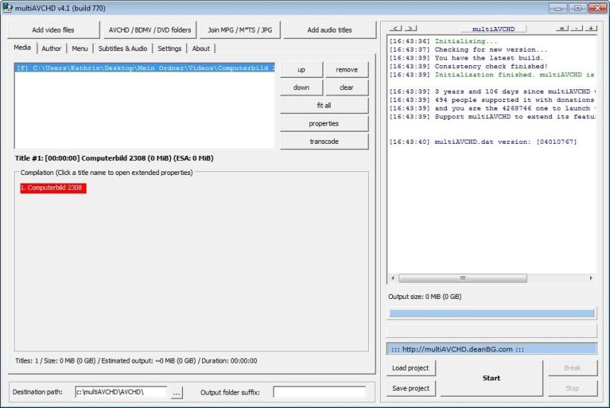 Screenshot 1 - MultiAVCHD