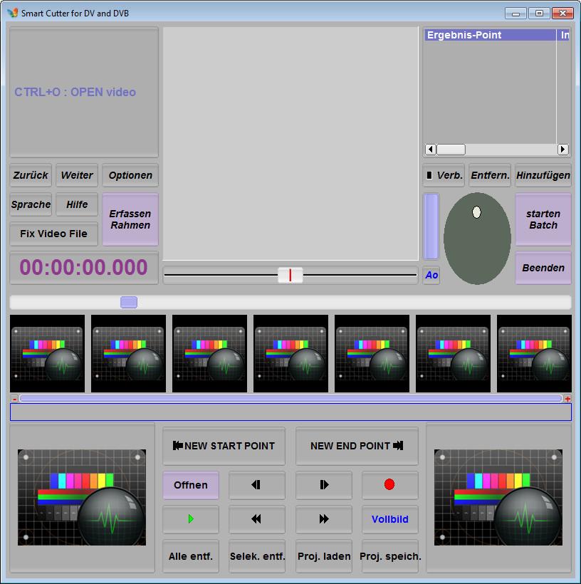 Screenshot 1 - SmartCutter for DV and DVB