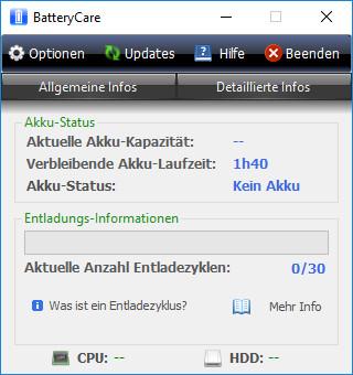 Screenshot 1 - BatteryCare