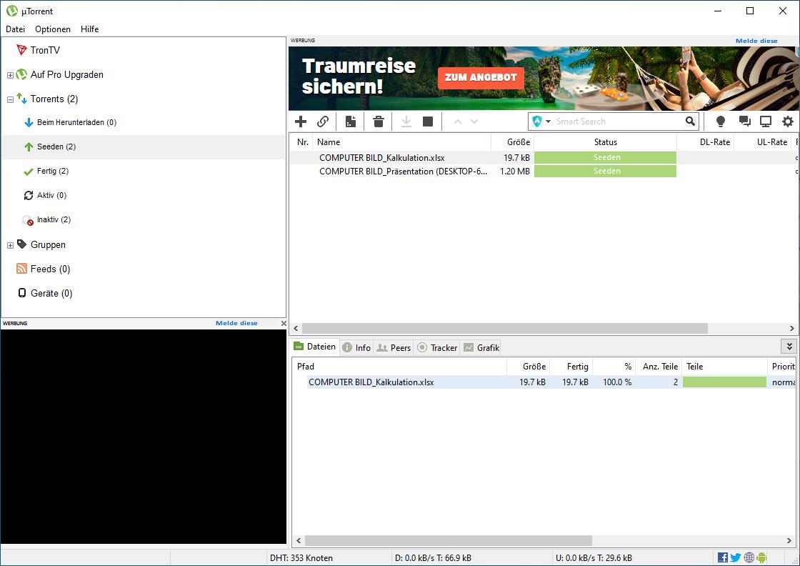Screenshot 1 - uTorrent Portable