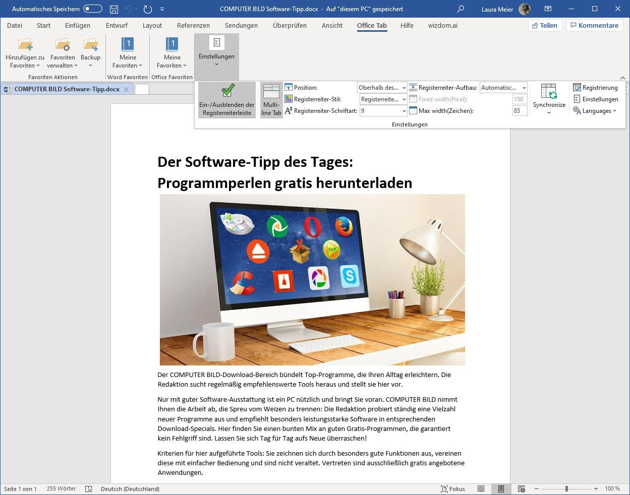 Screenshot 1 - Office Tab