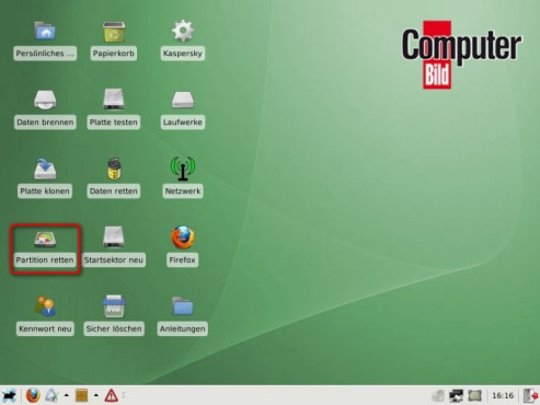 COMPUTER BILD-Notfall-CD: PC-Start über Notfall-System