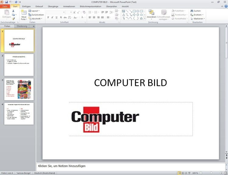 Screenshot 1 - Microsoft Office 2010