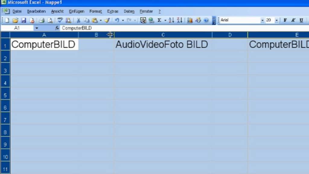Tipp der Woche: Spaltenbreite in Excel automatisch anpassen