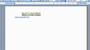 Tipp der Woche: Links in Word direkt per Klick ohne Strg-Taste �ffnen
