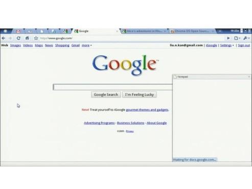Google Chrome OS Notepad
