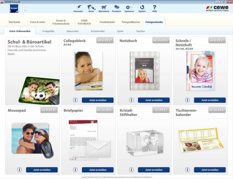 Screenshot 1 - Budni Fotowelt