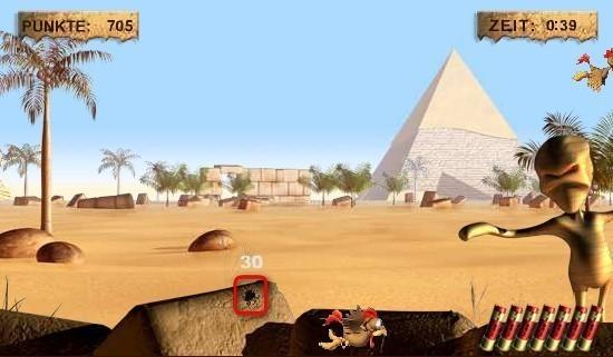 Moorhuhn-Homepage: Ancient Moorhuhn Game