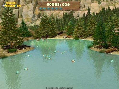Moorhuhn-Homepage: Fische versenken