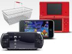 Online Shopping mit tragbaren Spielkonsolen