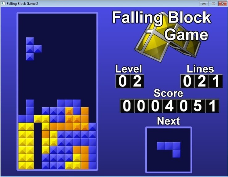 Screenshot 1 - Falling Block Game 2