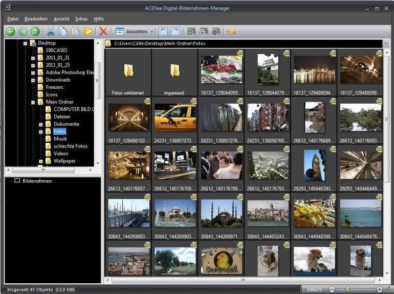 Screenshot 1 - ACDSee Digital-Bilderrahmen-Manager