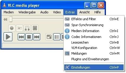 VLC Media Player: Speicherot für die Standbilder festlegen
