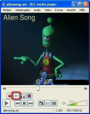 VLC Media Player: Szene aus einem Film als Standbild festhalten