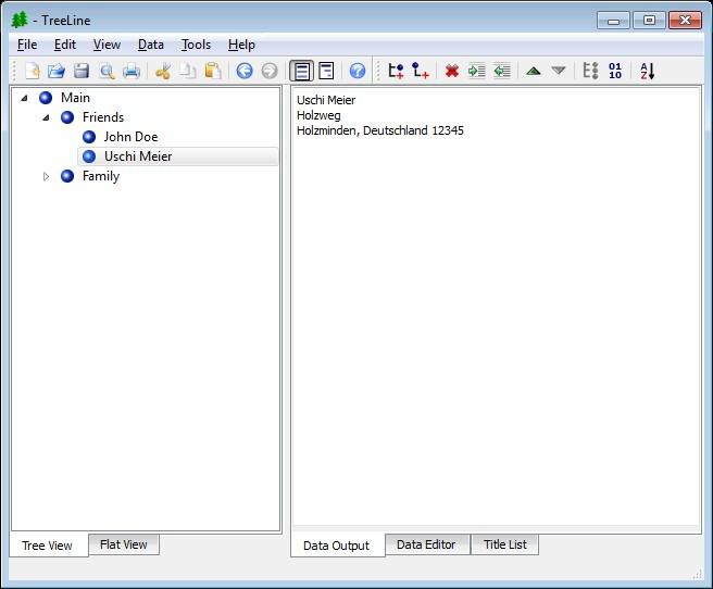 Screenshot 1 - TreeLine