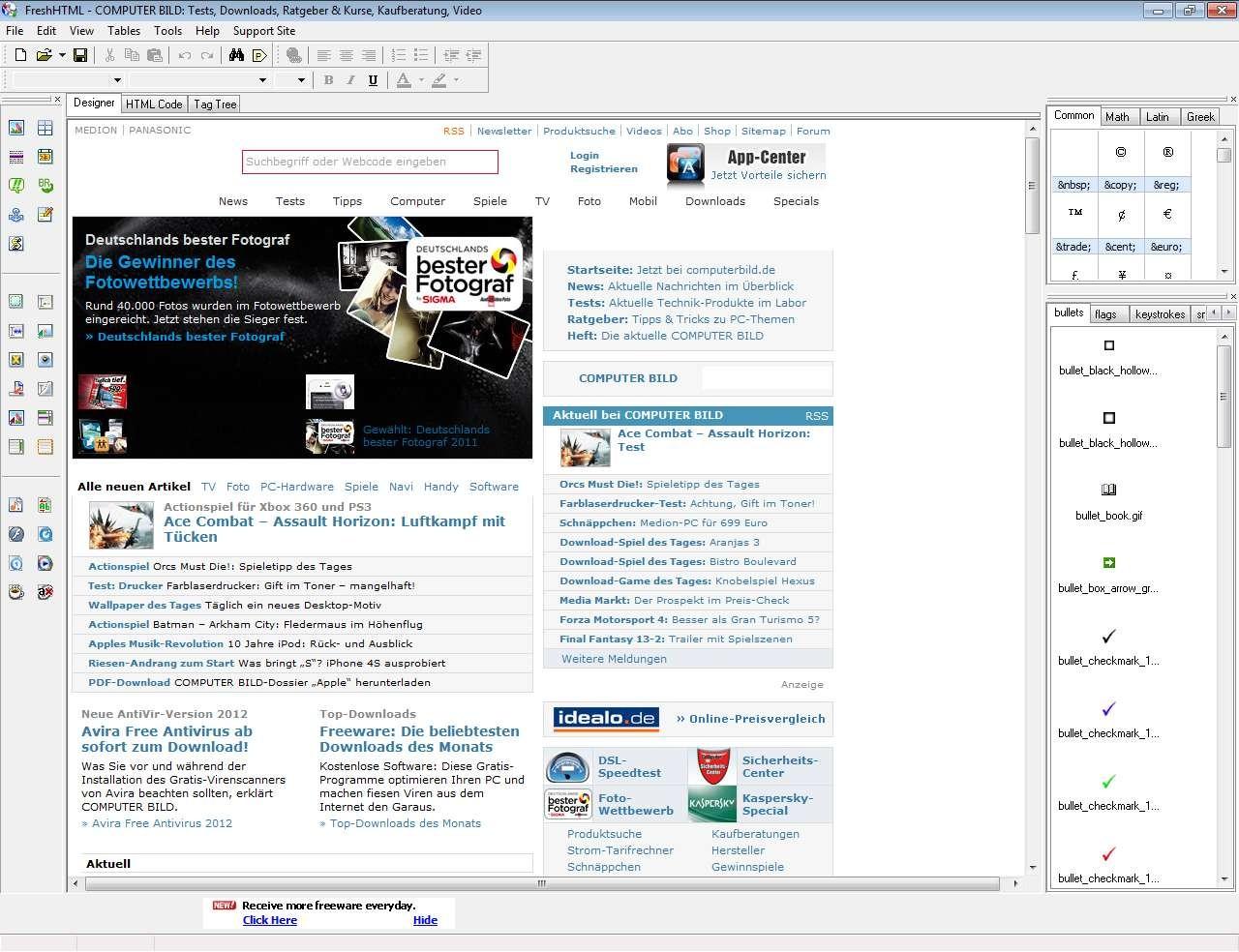 Screenshot 1 - Fresh HTML