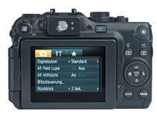 Kamerarückseite Canon Powershot G11