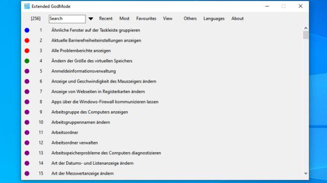 GodMode für Windows: So konfigurieren Sie das Betriebssystem optimal Der Extended GodMode basiert nicht auf dem Explorer, so wie der originale GodMode. Der Nachbau ist jedoch deutlich zeitgemäßer, komfortabel bedienbar und besser.©COMPUTER BILD