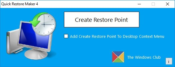 Screenshot 1 - Quick Restore Maker