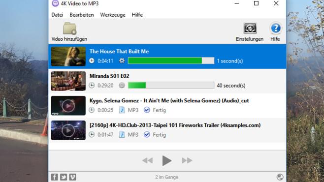 4K Video to MP3: Videos als Ton speichern ©COMPUTER BILD