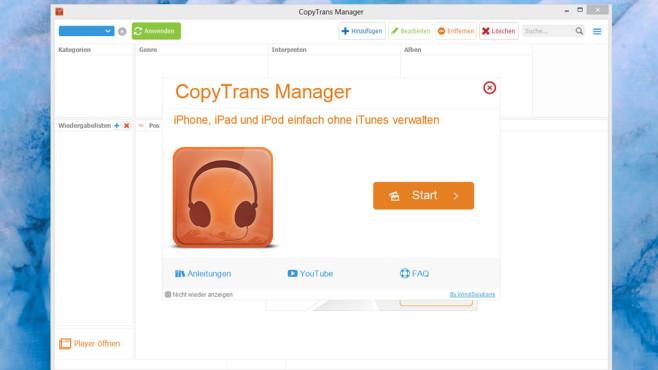 CopyTrans Manager: Daten auf iPhone & Co. schaufeln ©COMPUTER BILD