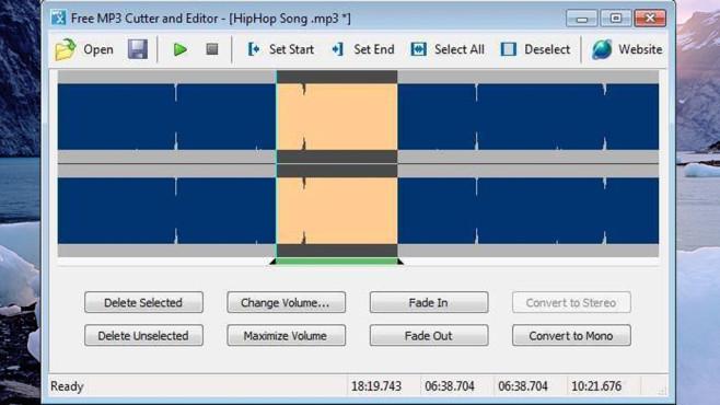 Free MP3 Cutter and Editor: Audiodateien individuell kürzen ©COMPUTER BILD