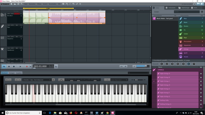 Magix Music Maker Free: Sounds zusammenklicken © COMPUTER BILD