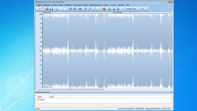 Nero WaveEditor: Tool zur Klangoptimierung ©COMPUTER BILD