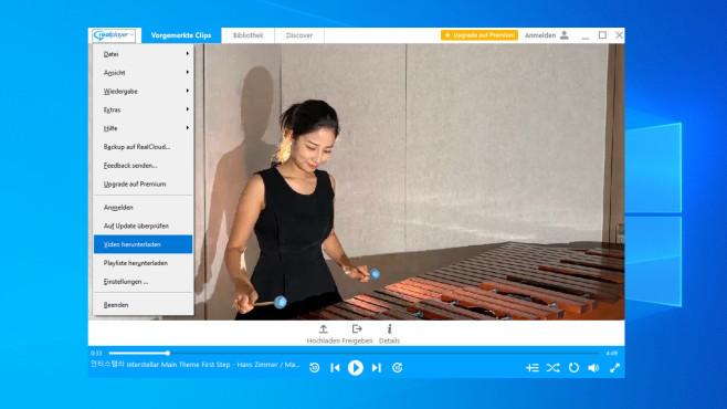RealPlayer mit RealTimes: Audio abspielen und visualisieren ©COMPUTER BILD