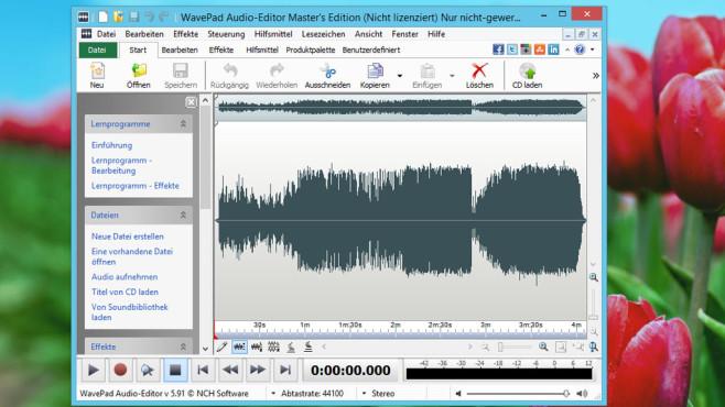 WavePad: Audiodateien erstellen und optimieren ©COMPUTER BILD