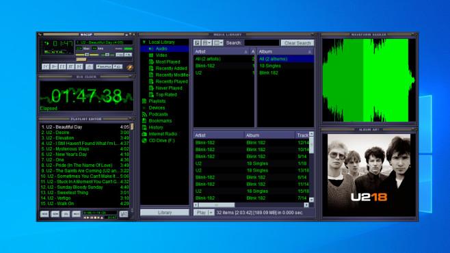 Winamp Community Update Project (WACUP): Musik verwalten und abspielen ©COMPUTER BILD