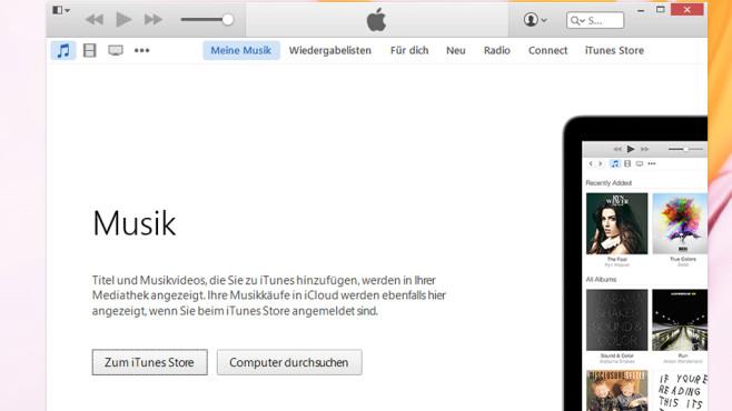 iTunes: Musikverwaltung für Nutzer von Apple-Geräten ©COMPUTER BILD