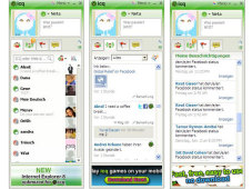 Screenshots des Messengers ICQ 7