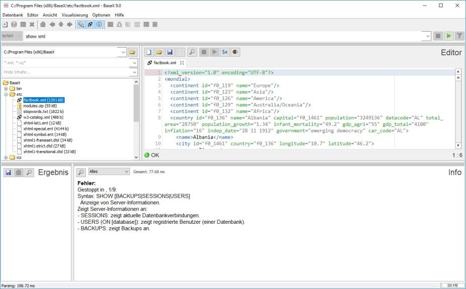 Screenshot 1 - BaseX
