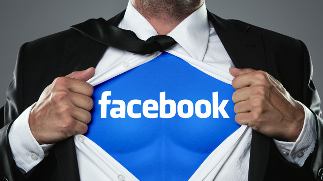Facebook-Superheld © rangizzz-Fotolia.com, Facebook