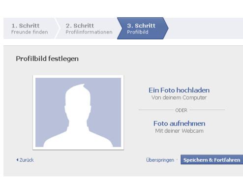 Profilbild hochladen: Facebook