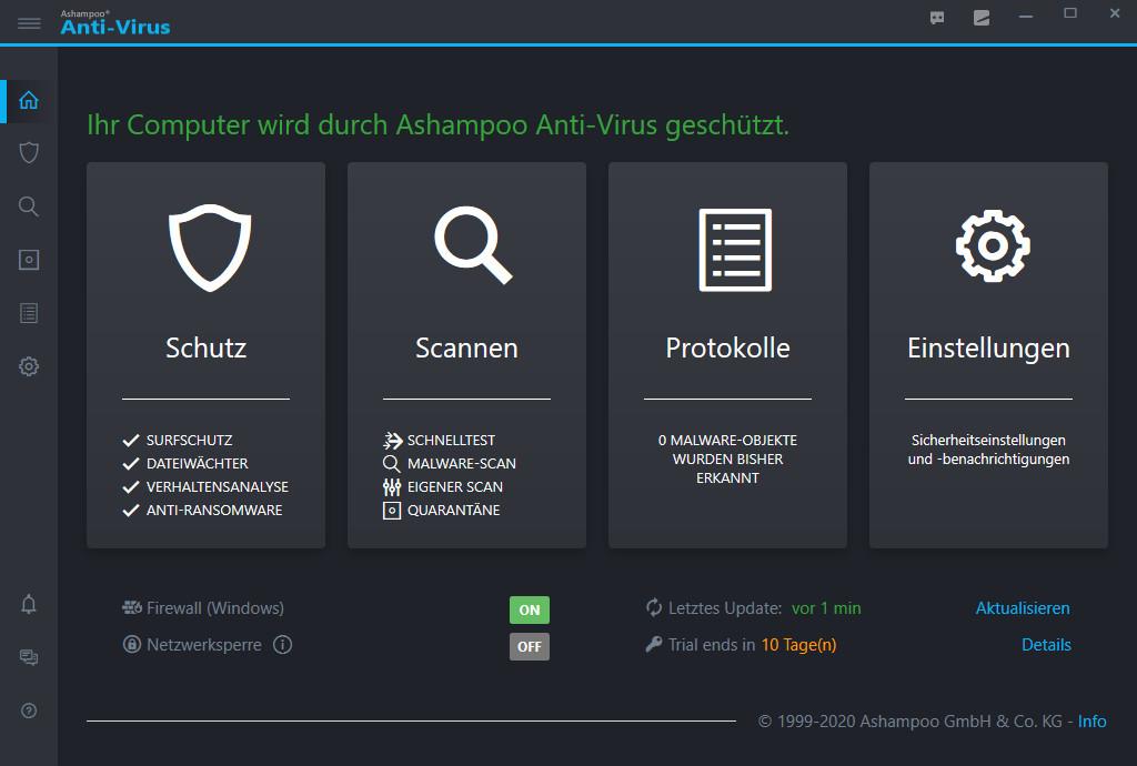 Screenshot 1 - Ashampoo Anti-Virus