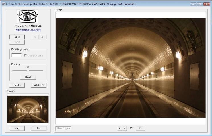 Screenshot 1 - GML Undistorter