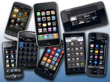 Smartphones mit mobilen Betriebssystemen