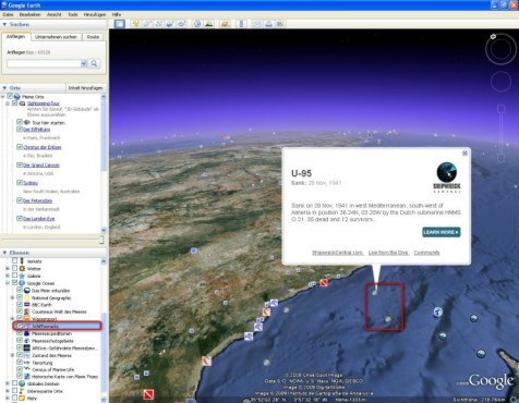 Google Earth: Nach Schiffswracks tauchen