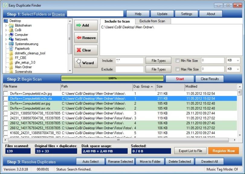 Screenshot 1 - Easy Duplicate Finder