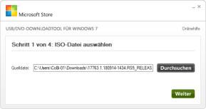 Windows USB/DVD Download Tool