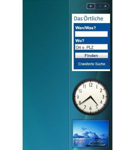 Screenshot 1 - DasÖrtliche Gadget