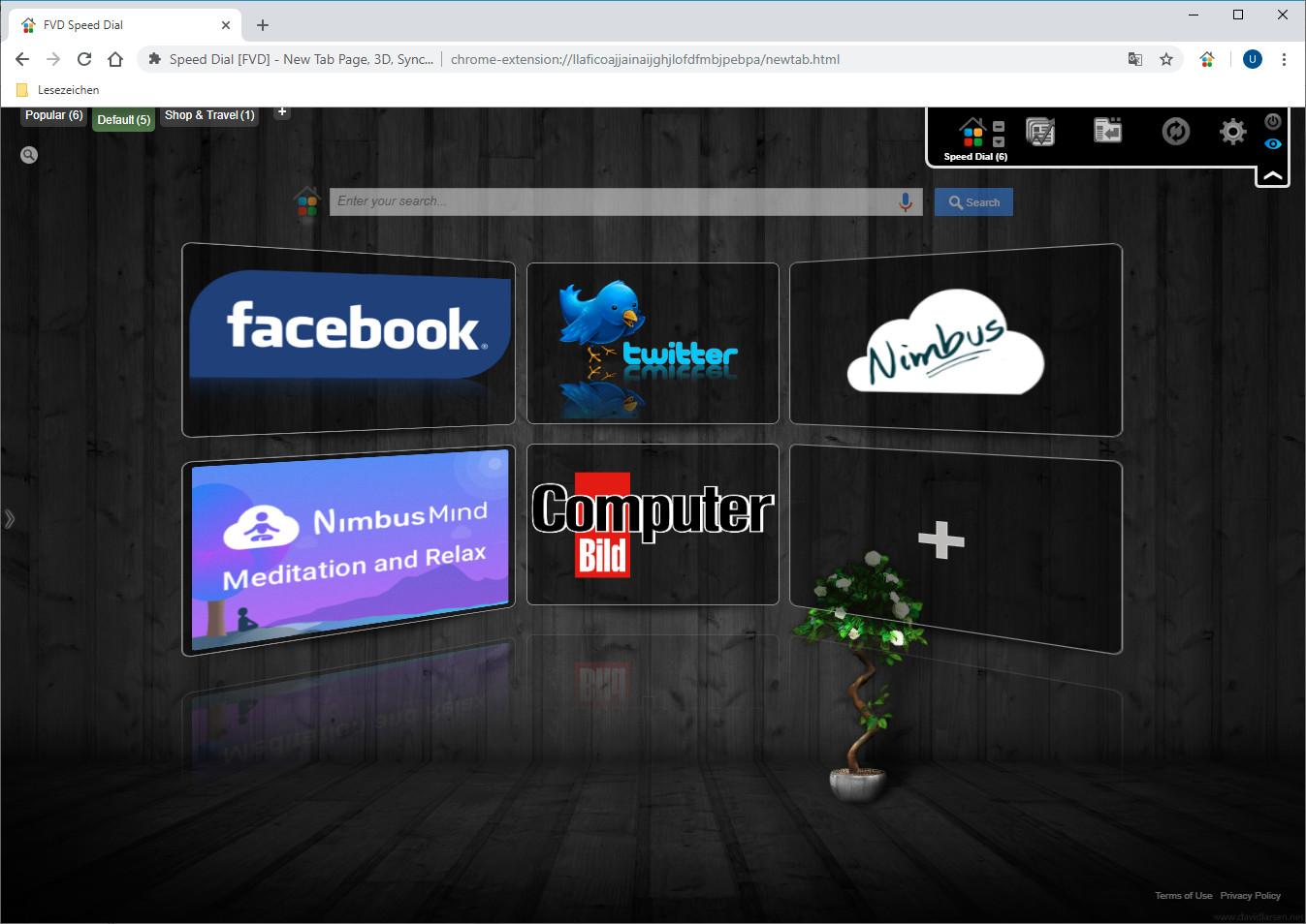 Screenshot 1 - Speed Dial für Chrome